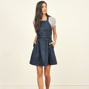 Abercrombie Fitch Sz 10 Denim Jean Dress Pockets